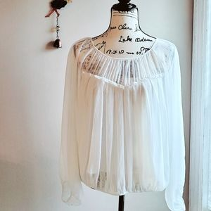 Adrianna Papell Missy Peasant Blouse